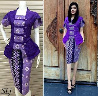 Desain baju batik setelan wanita