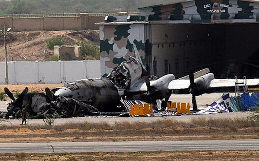 Image Attribute: Destroyed P-3C Orion at Mehran Air Base / Source: The Tribune