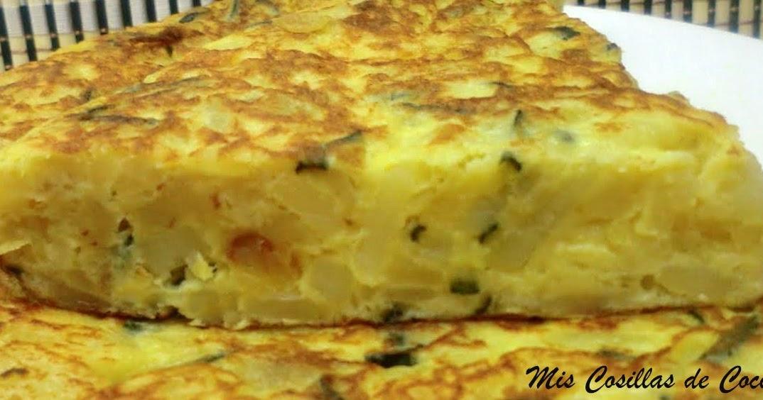 Tortilla de patata cebolla y calabac n mis cosillas de - Tortilla de calabacin y cebolla ...