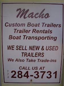 Macho Boat Trailer Rentals