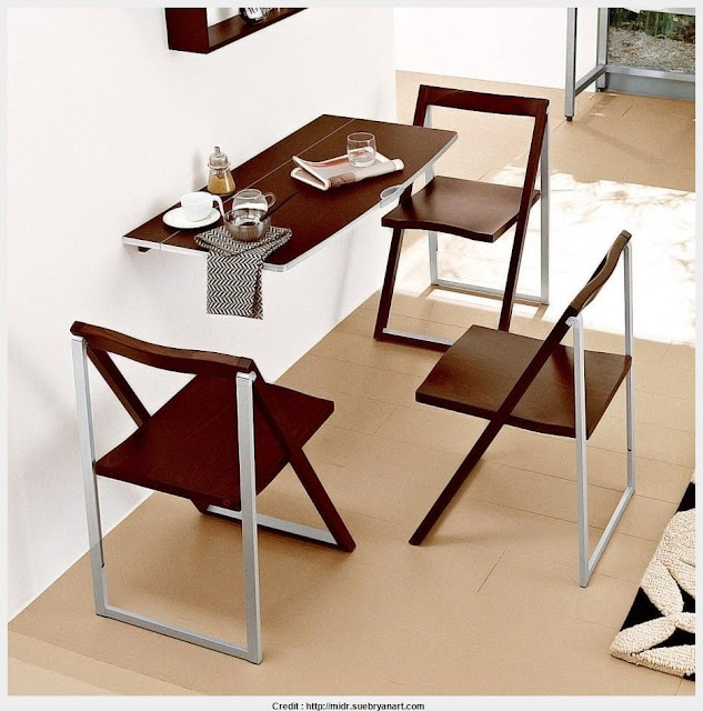 Awesome Wall Mounted Folding Table