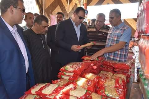 محافظ الفيوم يفتتح معرض السلع الغذائية المخفضة بمناسبة عيد الأضحى المبارك