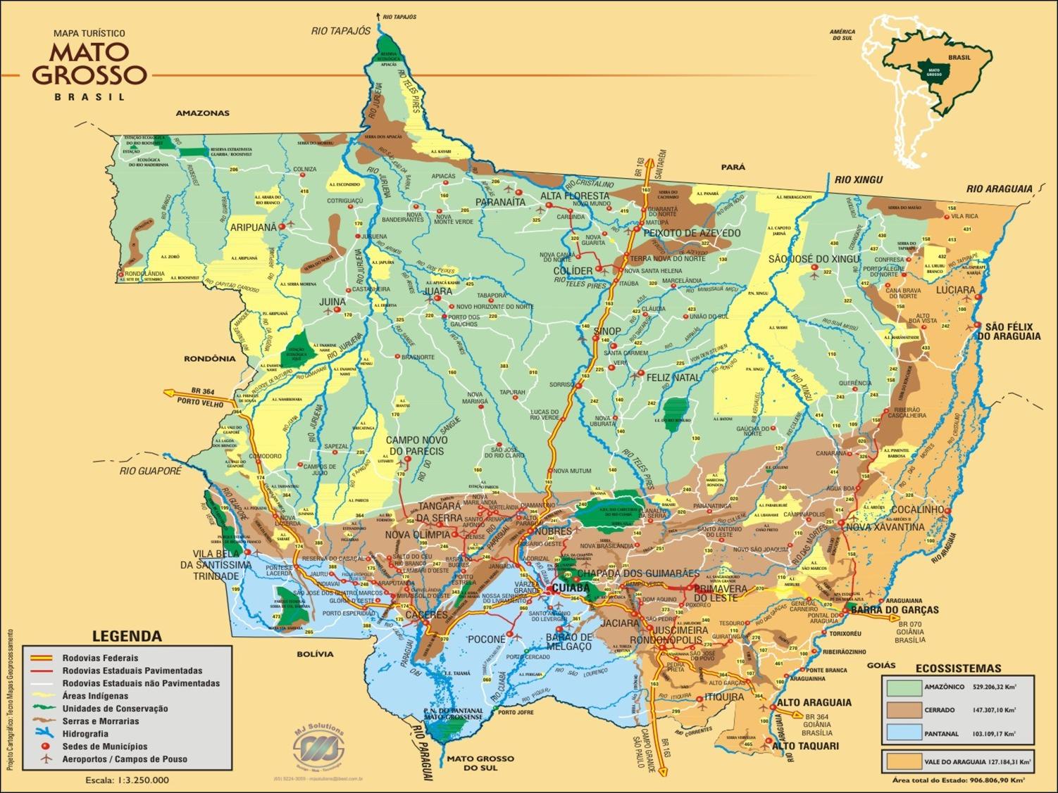 Mapas do Estado do Mato Grosso