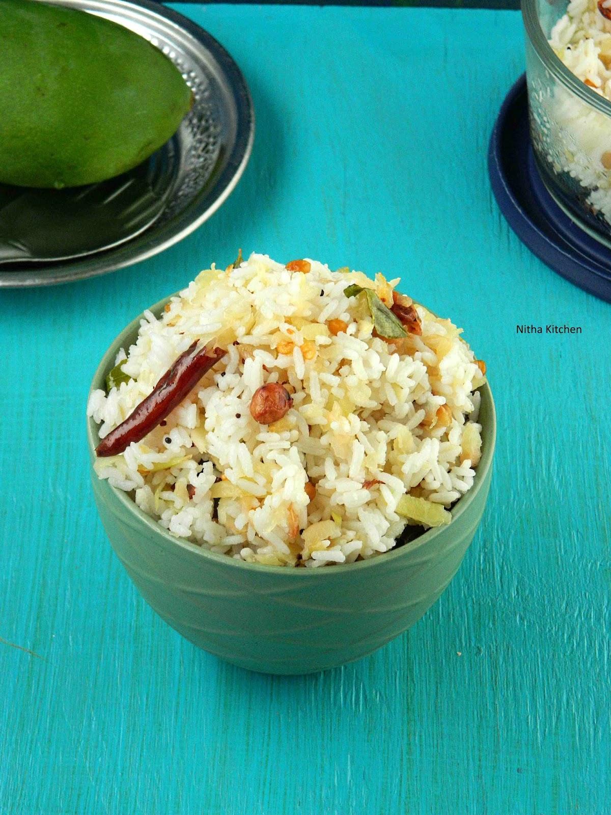 Raw Mango Rice | Mangai Sadam Recipe - Nitha Kitchen