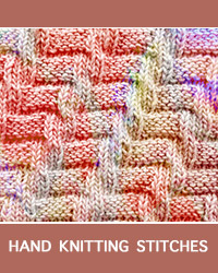 Diagonal Knit Purl stitch, free knitting stitch pattern