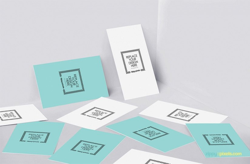 Free Magnificent Business Card Design Mockup PSD