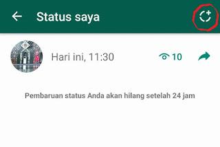 cara bikin status fitur terbaru whatsApp