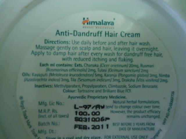 Himalaya Anti Dandruff Hair Cream Review