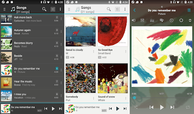 Tampilan Aplikasi jetAudio HD Music Player Plus