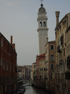 The leaning tower of the church of San Giorgio dei Greci in Venice