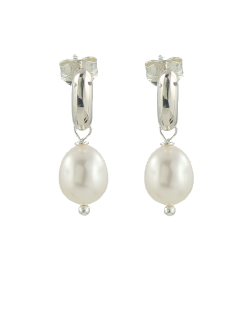 post pearl earrings