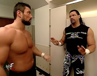 WWE / WWF Wrestlemania 2000 - Al Snow and Steve Blackman in the mens toilets