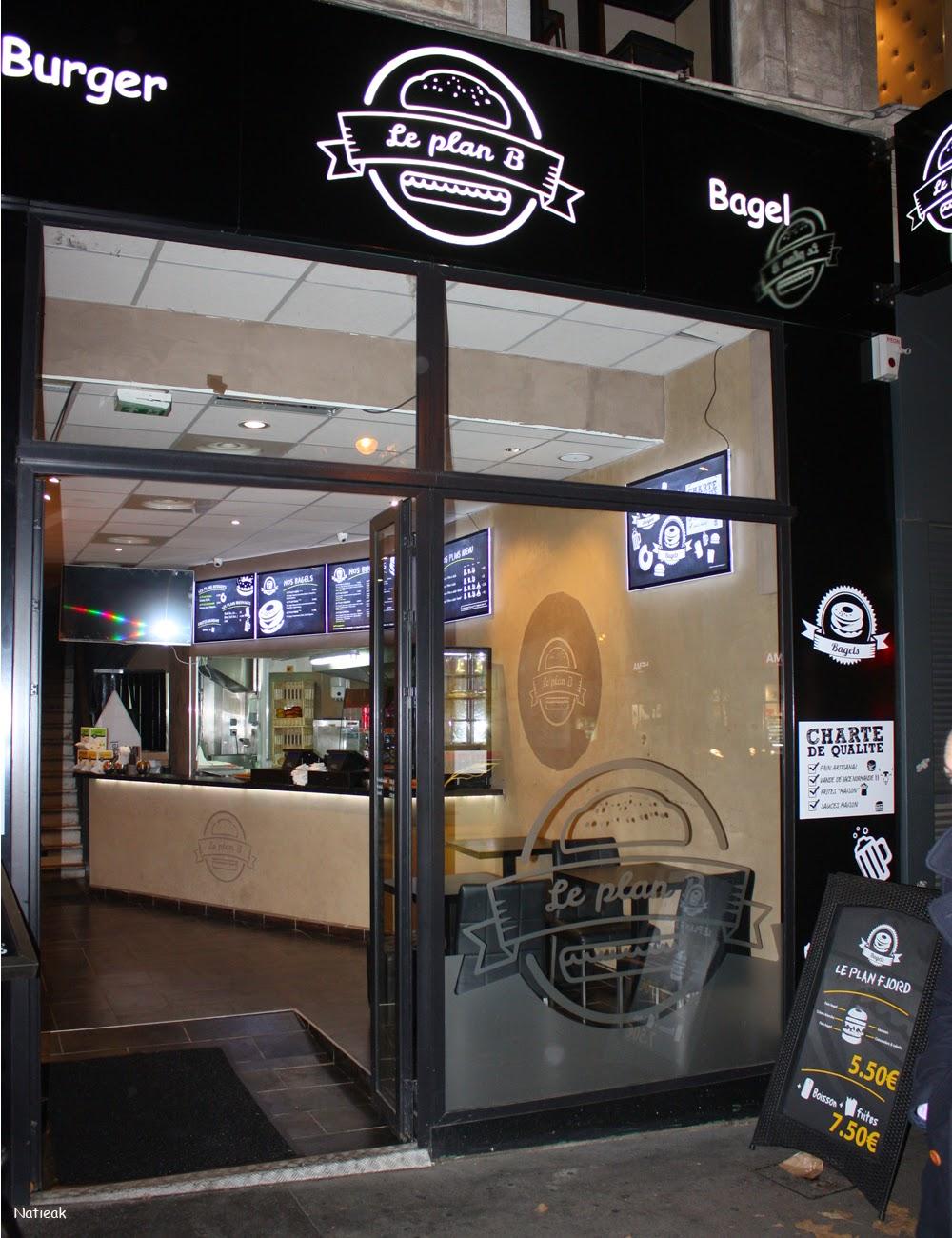 restaurant Burger et Bagel à l'américaine :Le plan B