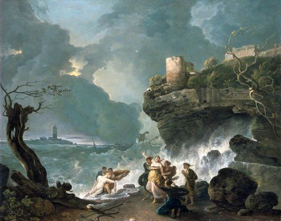 The storm that killed Ceyx.  Richard Wilson (1713/1714–1782)  National Museum Wales