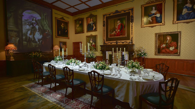 Downton Abbey: The Exhibition features several beloved rooms from the TV series, including the Crawleys' glamorous dining room.