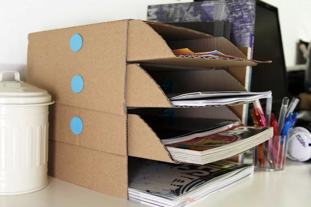 как сделать органайзер из картона, фото, http://handmade.parafraz.space/, картон, коробки, мастер-класс, органайзер из картона, для канцелярии, для офиса, для детей, подставка для канцелярии, своими руками, мастер-класс,