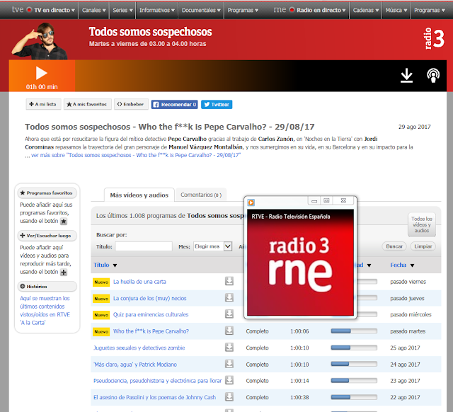 http://www.rtve.es/alacarta/audios/todos-somos-sospechosos/todos-somos-sospechosos-who-the-fk-is-pepe-carvalho-29-08-17/4186952/