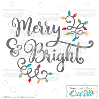 image to  free svg and clipart file get bright and merry limited commercial license