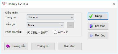 Download Unikey 4.0 RC2 và 4.2 RC4 Phần mềm gõ tiếng Việt hay nhất
