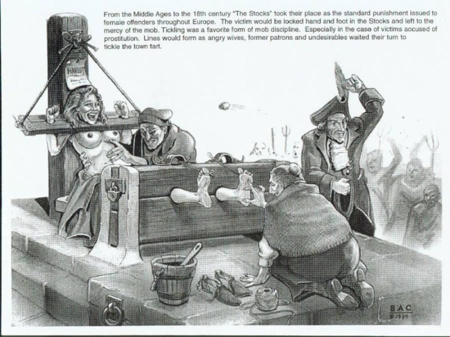 bondage inquisition drawings videos