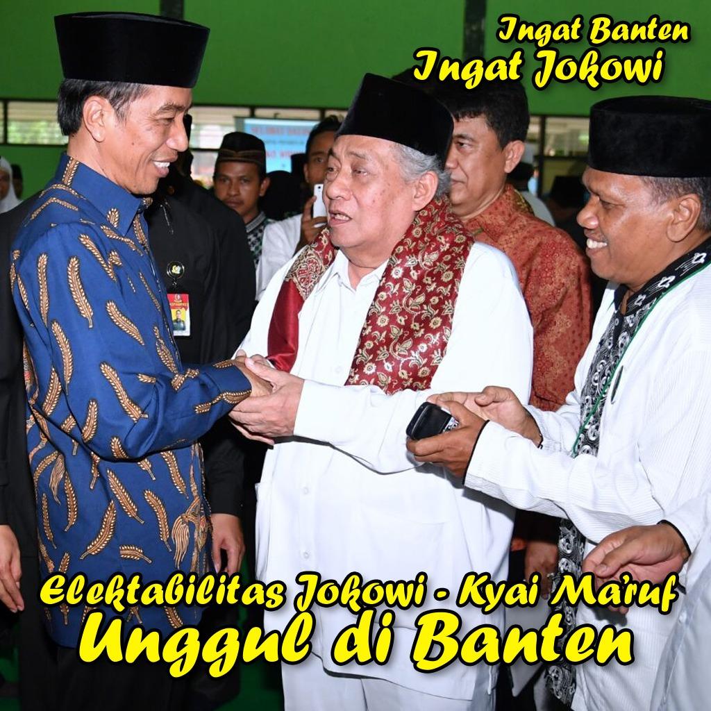 Elektabilitas Jokowi-Ma'ruf Unggul Di Banten