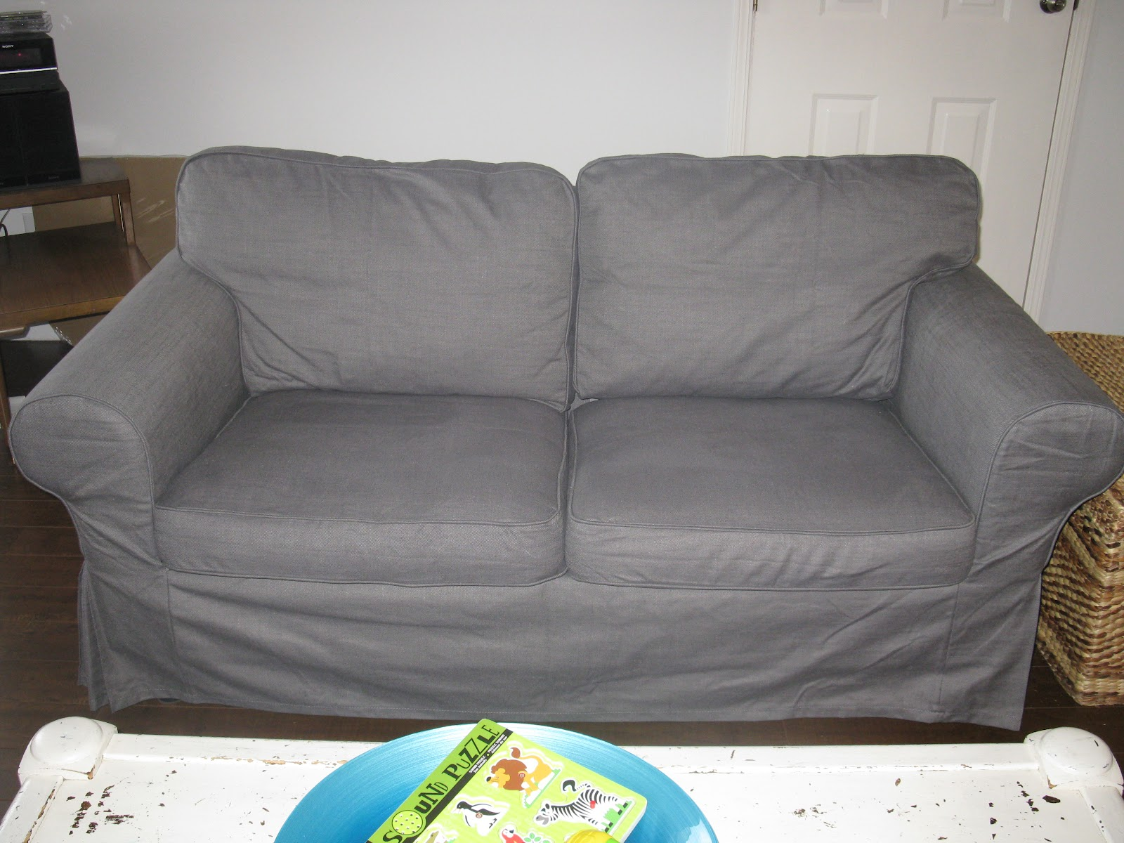 light grey sofa covers diy slipcover for sectional creating domestic bliss bye beige hello