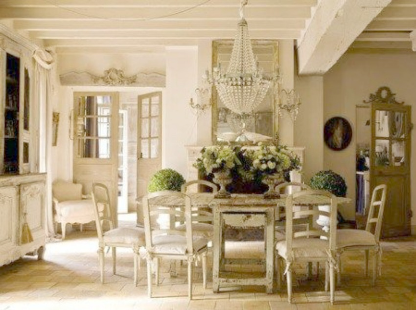 image result for Pam Pierce beautiful dining room French farmhouse  interior design