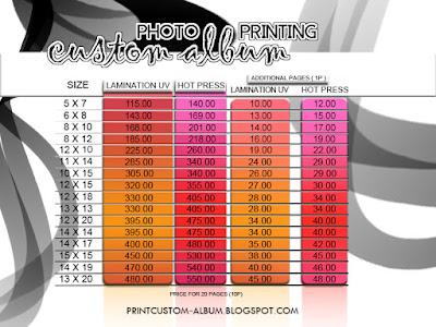 print custom album-Senarai harga custom album/print custom album,
