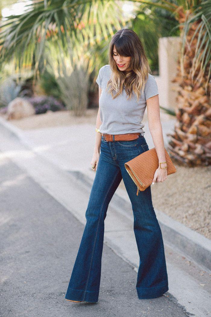 jeans a vita alta flare
