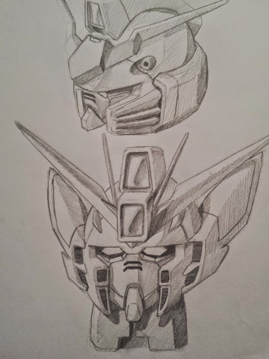 Wing Zero Head Sketch