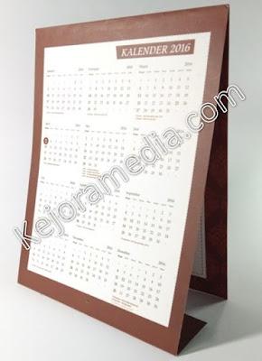 undangan kalender duduk murah