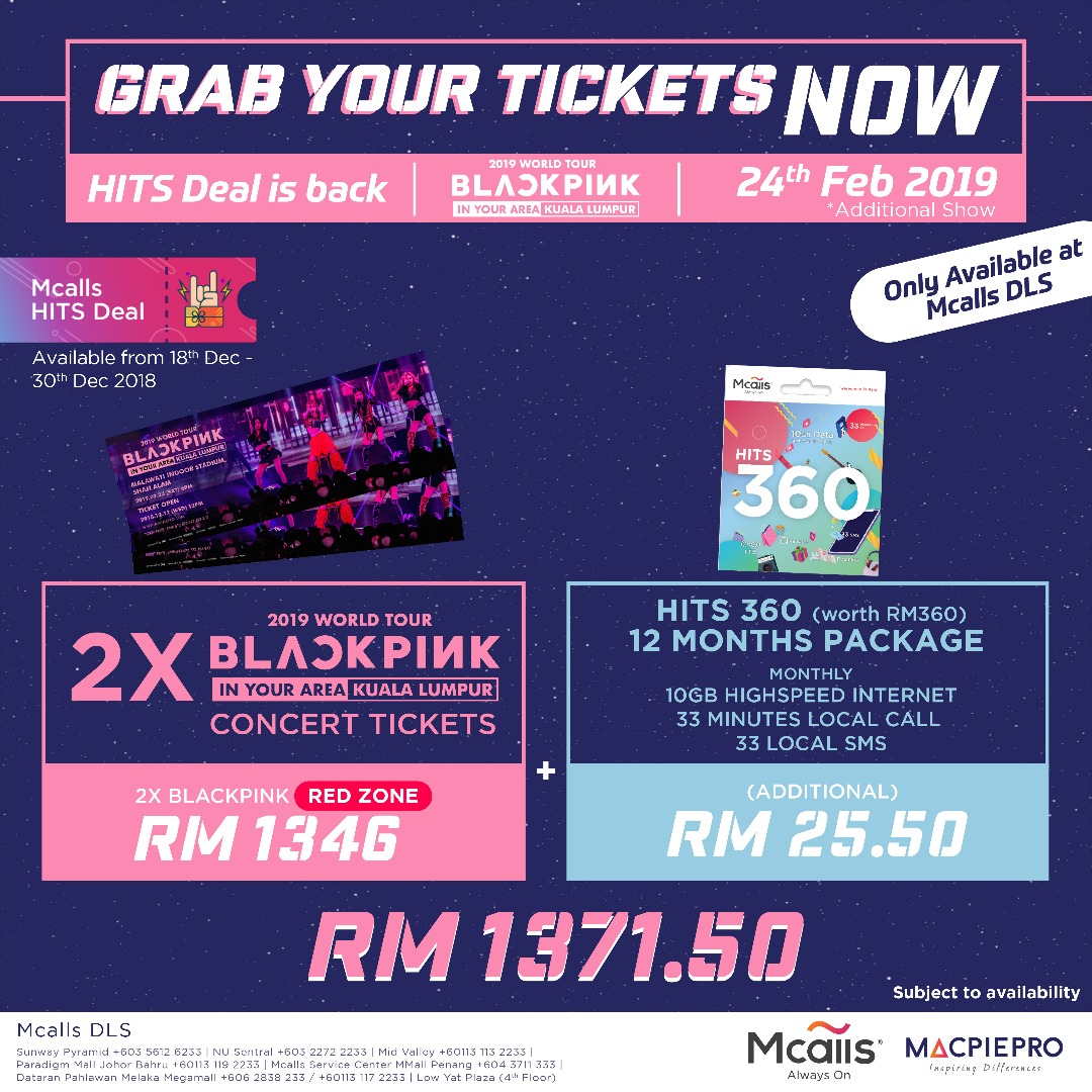 "BLACKPINK ke Malaysia Untuk Konsert World Tour 2019 ""BLACKPINK IN YOUR AREA"""