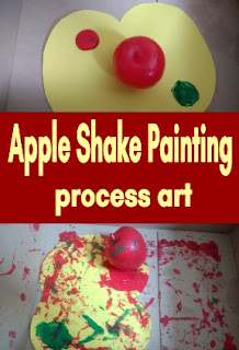 Apple Shake Painting process art