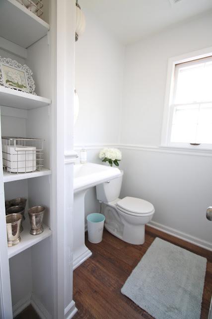 Diy bathroom remodel julie blanner entertaining home - Half bathroom remodel ideas ...