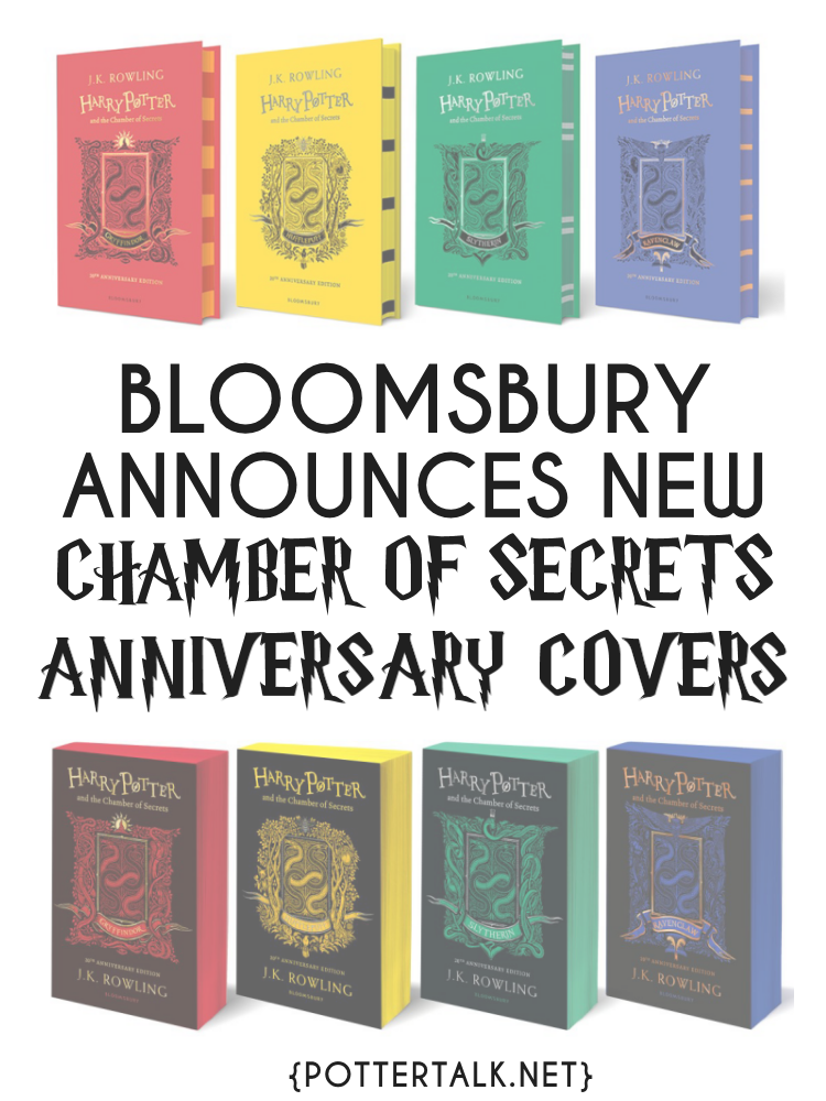 Bloomsbury Announces New Chamber of Secrets Covers