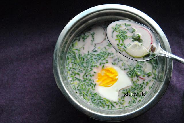 letnia zupa na zimno, dzikie rośliny jadalne, jadalna nać rzodkiewki, liście rzodkiewki przepis