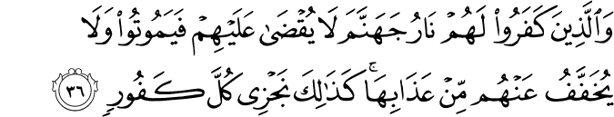 Surat Al-Fathir Ayat 36