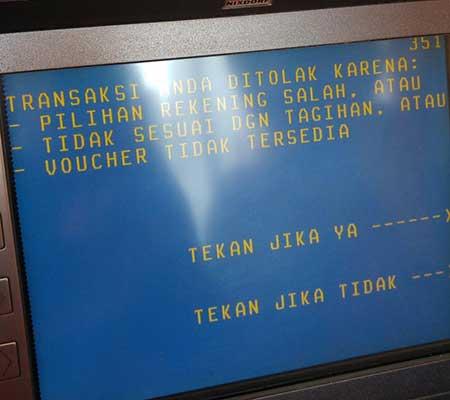 Penyebab Transaksi Anda Ditolak di Mesin ATM BNI