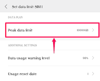 Peak%2BData%2BLimit%2B %2BMIUI%2BData%2BUsage%2BApp - How to control Data Usage in MIUI 8 using MIUI Security App?
