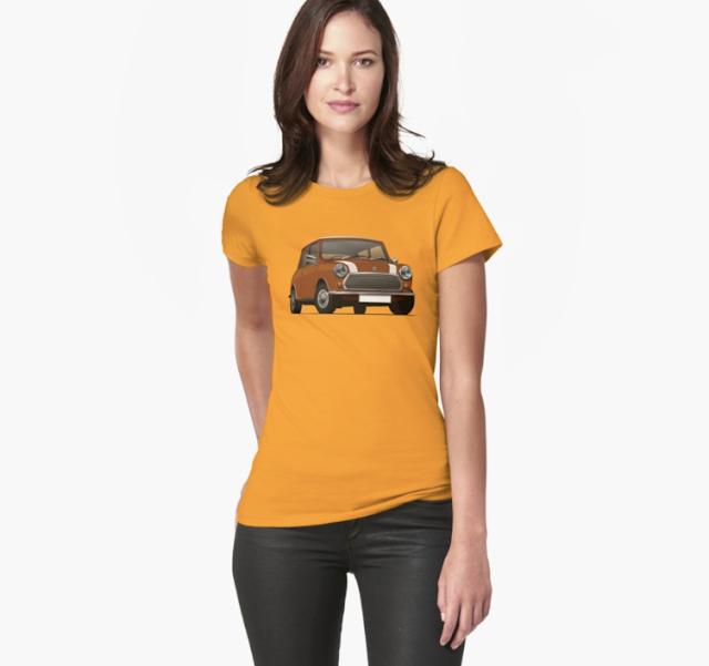 Morris Mini klassikko t-paidat ruskea