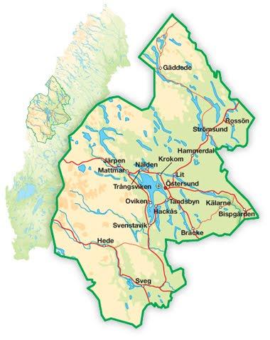 Karta Over Jamtland Regionen Karta Over Sverige Geografisk