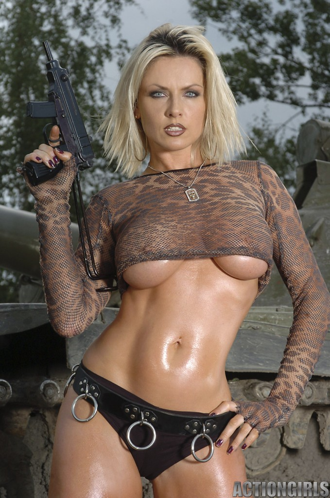 Nude with guns Naked girls