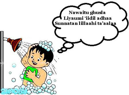 Gambar Niat Mandi Idul Adha