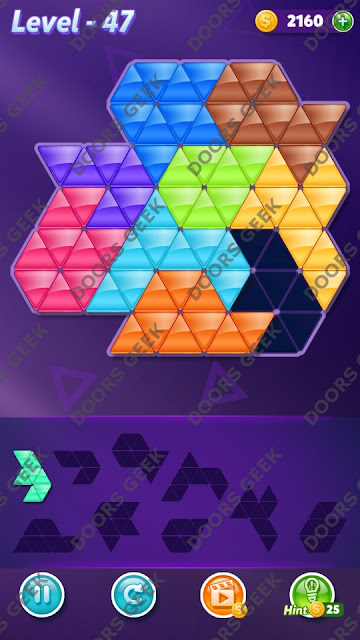 Block! Triangle Puzzle Proficient Level 47 Solution, Cheats, Walkthrough for Android, iPhone, iPad and iPod