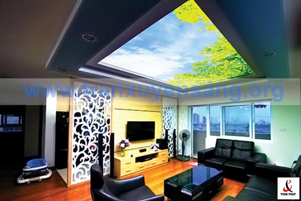 Mẫu thiết kế trần phòng khách hiện đại dành cho nhà biệt thự