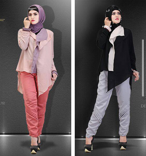 model baju kantor muslim