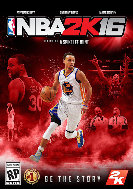 NBA 2K16 Cover Steph Curry