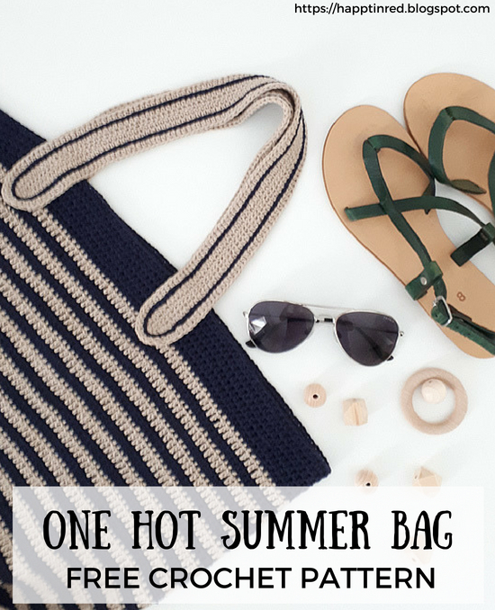 One hot summer bag, bach bag free crochet pattern | Happy in Red