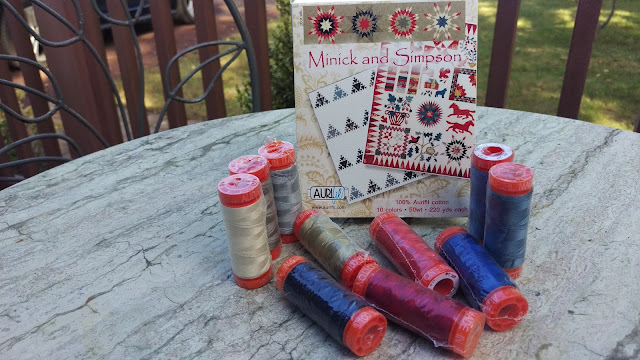 Minick and Simpson Aurifil thread collection