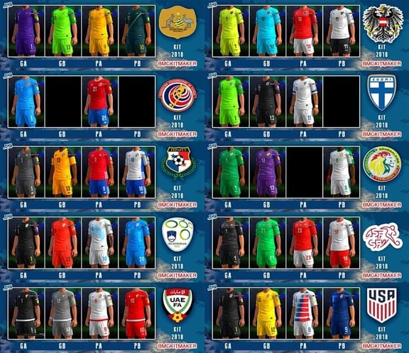 PES 2013 Big Kitpack NT World Cup 2018
